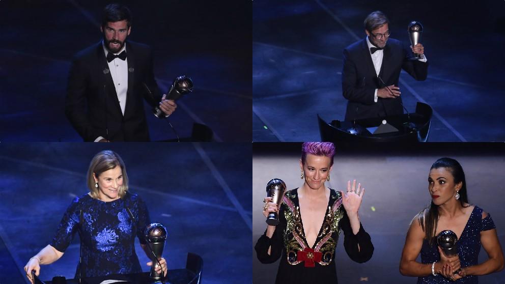 Los otros ganadores de la gala The Best.