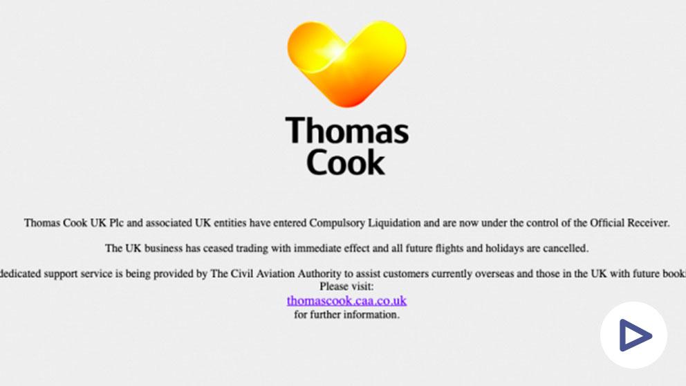 Página web de Thomas Cook.