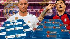 Real Madrid y Osasuna se enfrentan en el Bernabéu.