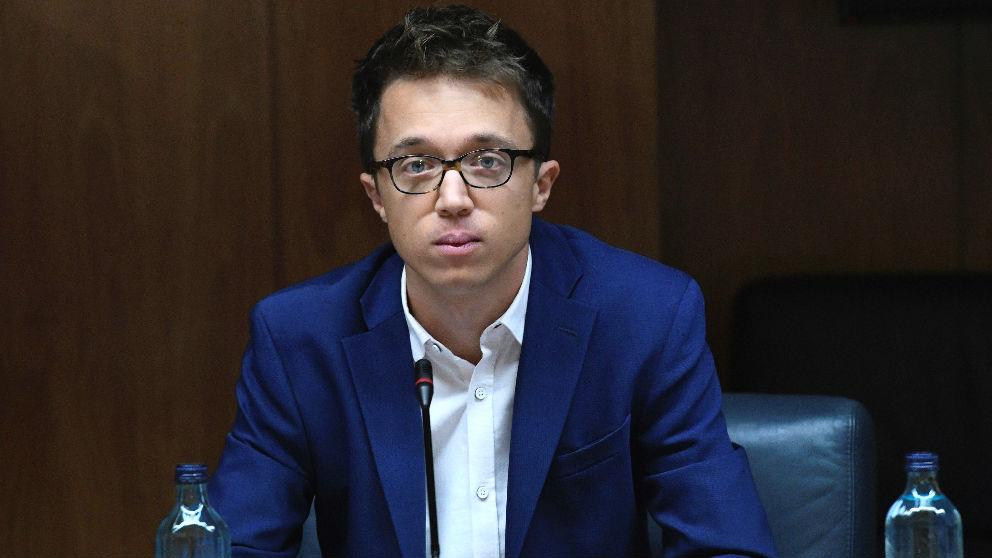 El portavoz de Más Madrid, Íñigo Errejón, en la reunión de la Junta de Portavoces de la Asamblea de Madrid. (Foto: Efe)