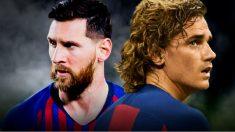 Messi y Griezmann.