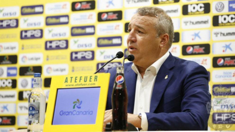 Miguel Ángel Ramírez, presidente de Las Palmas (Unión Deportiva Las Palmas)