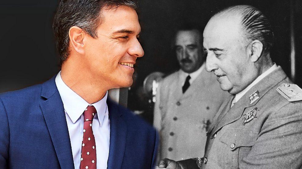 Francisco Franco y Pedro Sánchez.