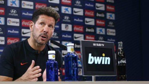 Diego Simeone en rueda de prensa (@Atleti)