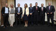 Los CEO de algunas de las empresas asistentes junto a la secretaria de Estado Xiana Méndez