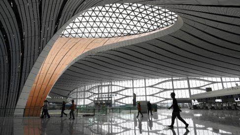 Aeropuerto Internacional Daxing de Pekín. Foto: AFP