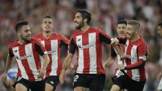 Raúl García celebra un gol con el Athletic (Athletic Club)