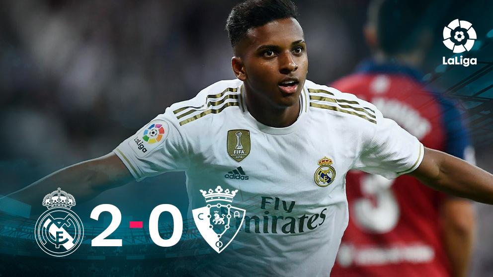 El Real Madrid se impuso 2-0 a Osasuna.