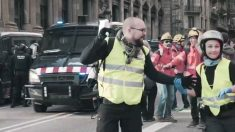 El CDR Ferran Jolis en una protesta en Barcelona a finales de 2018. (Imagen: @fj_jules vía Twitter)