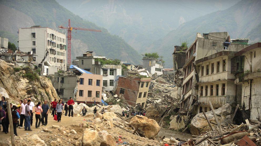 Imagen de los estragos de un terremoto