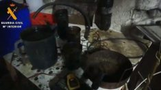 Material para la fabricación de explosivos hallado en un registro de la 'Operación Judas'. (Imagen: Min. Interior)