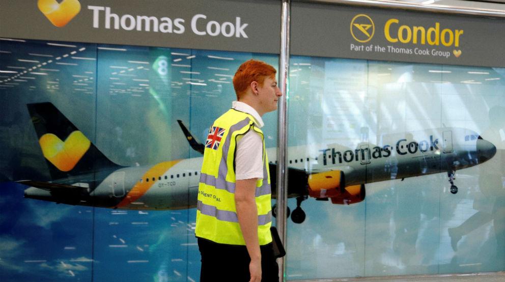 Publicidad de Thomas Cook en aeropuertos
