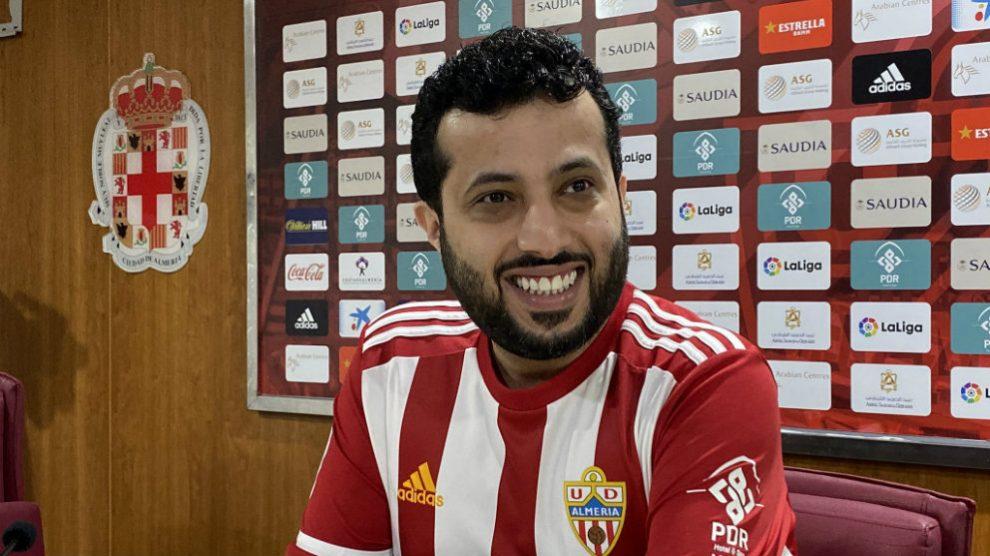 Turki Al-Sheikh, propietario del Almería, en rueda de prensa (Unión Deportiva Almería)