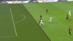 El VAR anuló el gol a Jovic por fuera de juego.