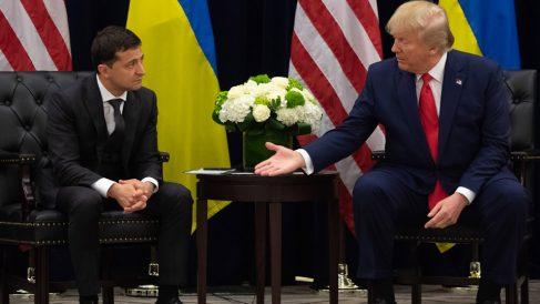 Volodimir Zelenski y Donald Trump (Foto: AFP)