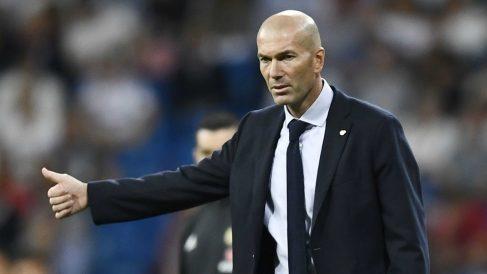Zinedine Zidane, en el encuentro ante Osasuna. (AFP)