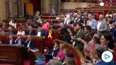 Carrizosa (Ciudadanos) reprocha a Torra en el Parlament su apoyo a los CDR encarcelados por terrorismo.