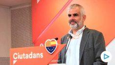 Carlos Carrizosa, portavoz de C's en el Parlament (EP).