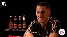 Eden Hazard, en su entrevista con Mahou.