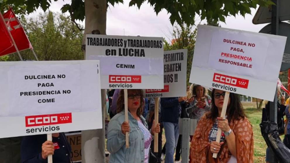 Trabajadores de La Moncloa protestan