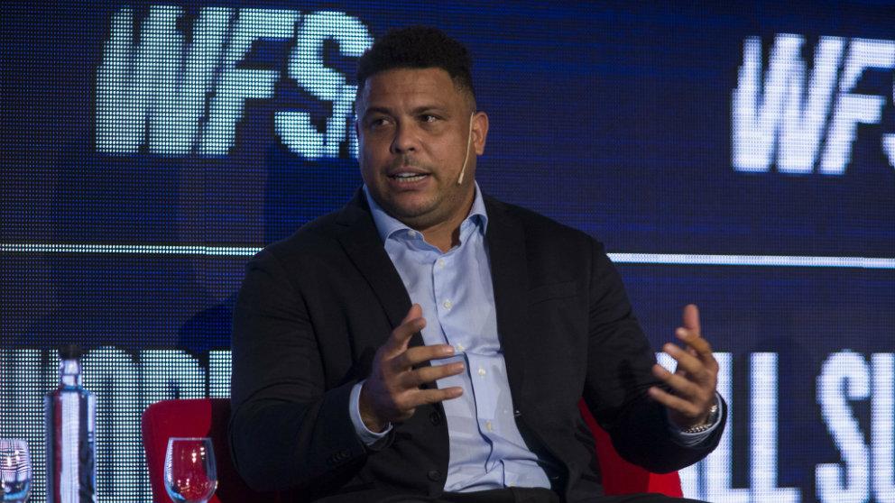 Ronaldo Nazario, propietario y presidente del Valladolid, durante el Club en el World Football Summit (Real Valladolid)