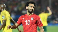 Salah, con la selección egipcia (AFP).