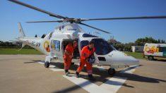Helicóptero medicalizado. Foto: Europa Press