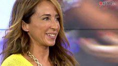 María Patiño, golpeada por una cámara
