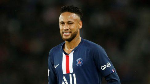 Neymar, durante un partido del PSG (Getty).