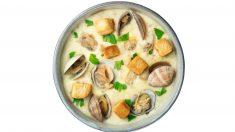 Receta de Sopa de patatas y almejas
