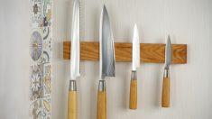 Pasos para hacer un soporte magnético para cuchillos