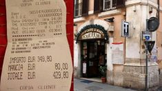 Turistas estafados en Roma_ pagan 429 euros por dos platos de pasta