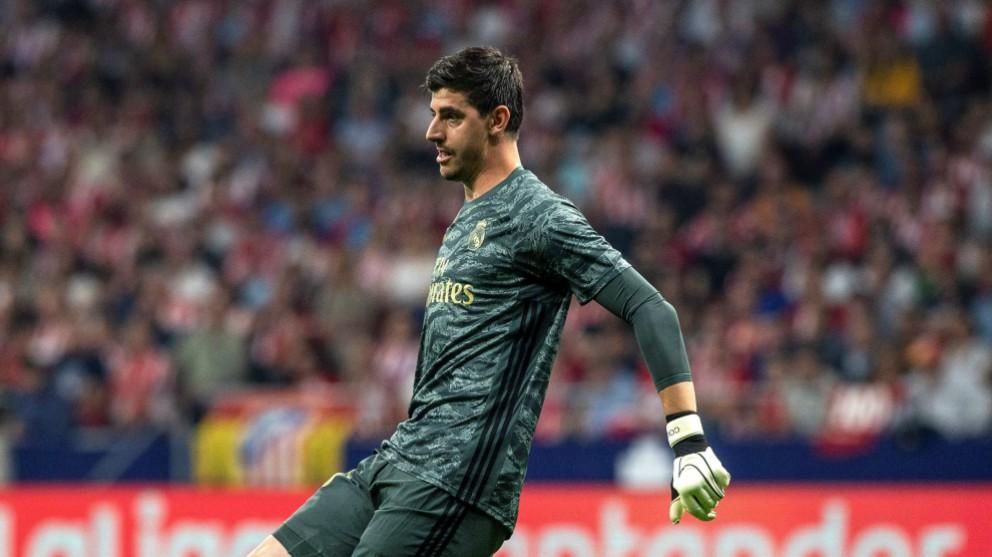Courtois, en el partido ante el Atlético. (EFE)