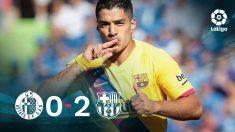 Luis Suárez se reencontró con el gol en Getafe.