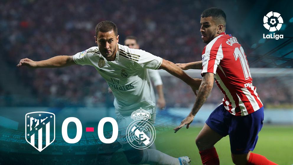 Atlético y Real Madrid firmaron tablas en el derbi.