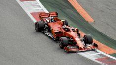 Charles Leclerc en el GP de Rusia. (AFP)