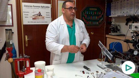 El perito judicial en criminalística forense José Jiménez.