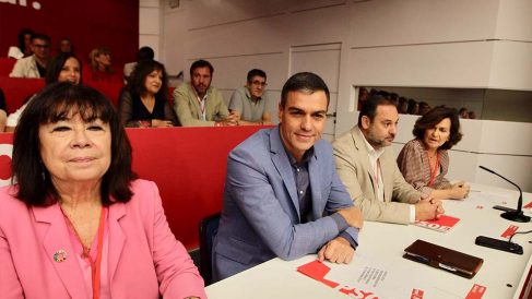 Pedro Sánchez en el Comité Federal del PSOE. (Foto: Francisco Toledo)
