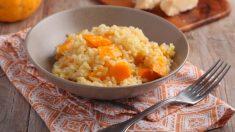 Risotto de naranja y puerro