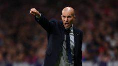 Zinedine Zidane, durante el partido ante el Atlético de Madrid (Getty).