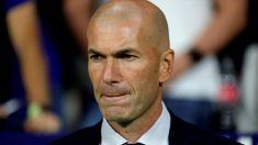 Zinedine Zidane durante el derbi. (EFE)