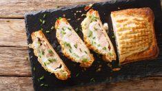 Pastel de salmón con verduras