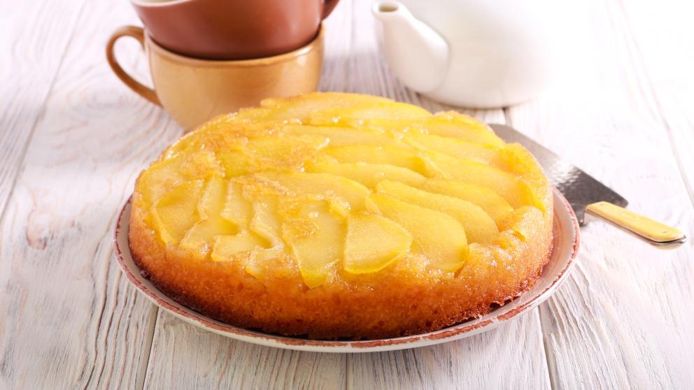 Receta de Tarta crujiente con relleno de peras