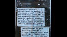 Conversación de whatsapp sobre el crimen de Meco