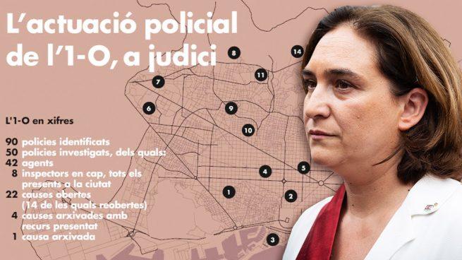Ada Colau publica una infografía sobre el 1-O