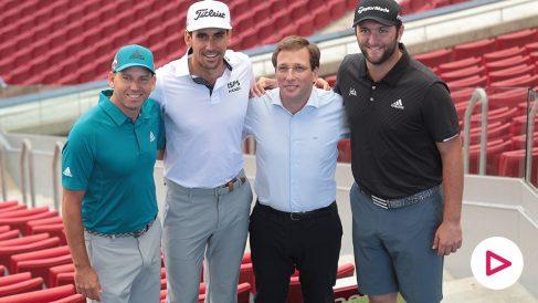 El Alcalde de Madrid recibe a Sergio, Cabrera y Rahm en la presentación del Open de España (Fotos: Alberto Simón)