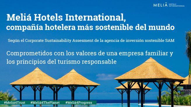 Meliá Hotels International, compañía hotelera más sostenible del mundo