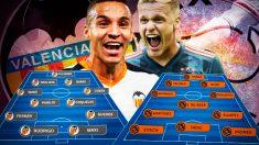 Valencia y Ajax se enfrentan en Mestalla en la Champions League.
