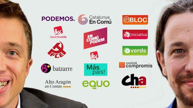 Iglesias y Errejón se presentan a las elecciones en una amalgama de 15 partidos de izquierdas