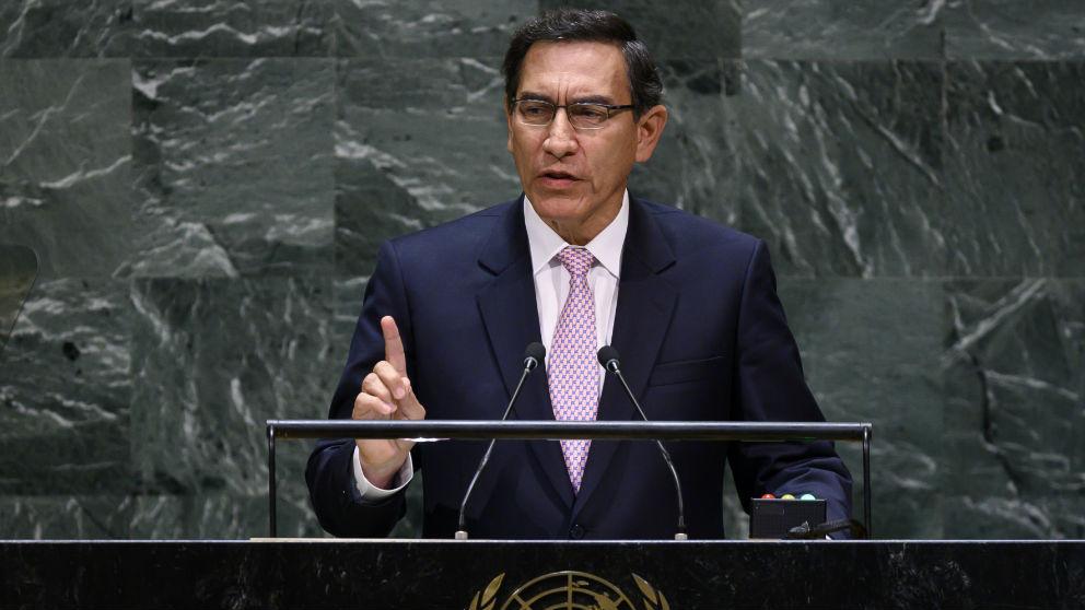 El presidente de Perú, Martín Vizcarra. Foto: AFP